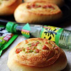 芥末火腿香菜面包的做法