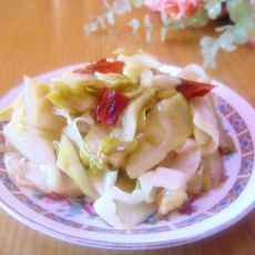 糖醋圆白菜的做法