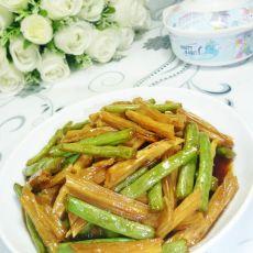 糖醋梅豆腐竹的做法