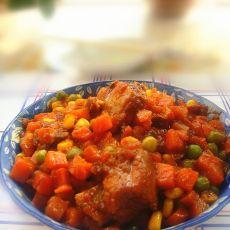 杂菜沙司排骨的做法