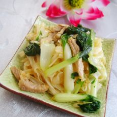 小白菜炒河粉