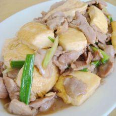 蚝油豆腐炒肉片