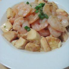 玉子豆腐虾仁