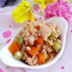 胡萝卜青豆蒸肉的做法