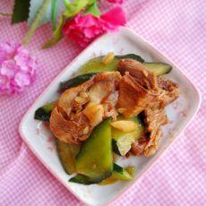 黄瓜炒鸭肉
