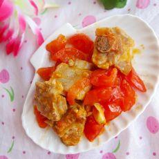 番茄炒排骨的做法