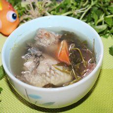 葛菜煲鲫鱼的做法