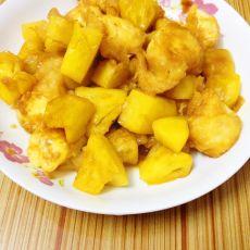 菠萝烧日本豆腐的做法