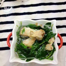 鱼骨枸杞叶的做法