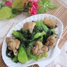 鸡块炒上海青