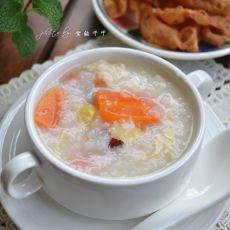胡萝卜腐竹白果粥
