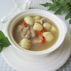 竹薯扇骨汤的做法