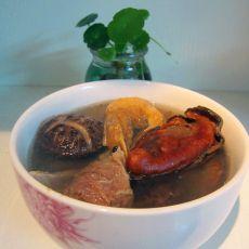 蚝豉虾干猪骨汤的做法