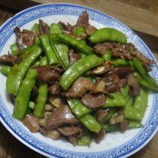 荷兰豆炒猪俐的做法