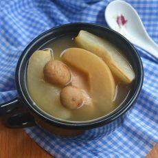 雪梨猪展汤的做法