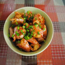 姜葱油爆智利虾