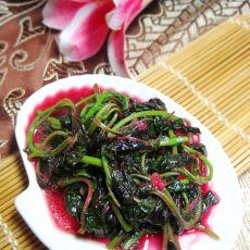 蒜米炒紫苋菜