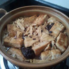 豆鼓腐竹煲的做法