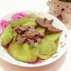 猪肝粉肠炒黄瓜