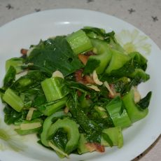 油渣炒芥菜