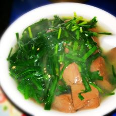 韭菜猪红汤