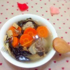 胡萝卜菜干汤
