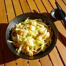 鲜带子鸡蛋炒韭黄