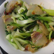 腊肉炒上海青