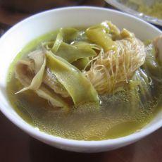 霸王花菜干鸡汤