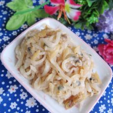 蛤蜊肉炒白萝卜丝