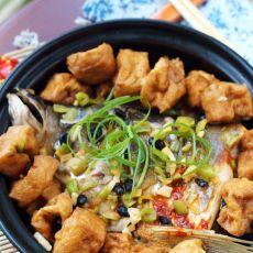 油豆腐焖鱼头的做法