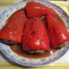 红椒酿肉的做法