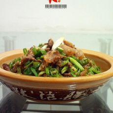 青椒炒削骨肉---下酒菜