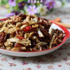 白辣椒熏豆干炒腊肠