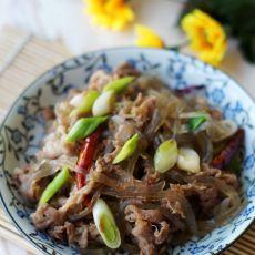 红薯粉条炒羊肉的做法