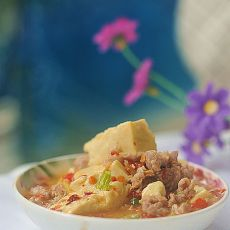 家常肉末豆腐