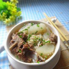 淮山炖骨汤面的做法