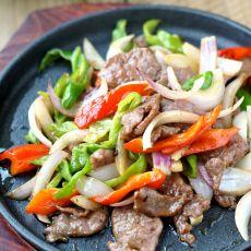 铁板洋葱牛肉的做法