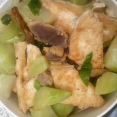 豆腐儿菜炖腊肉的做法