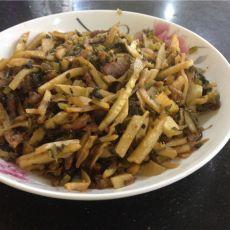 冬笋咸菜炒肉丝的做法