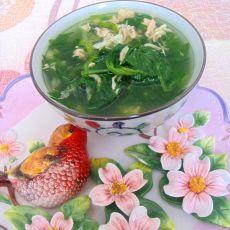 虾皮芹菜叶汤的做法