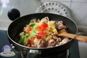 菠萝咕老肉的做法步骤:10