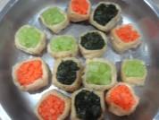 豆腐雕鱼彩蔬盅的做法步骤:5