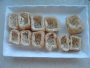 豆腐雕鱼彩蔬盅的做法步骤:2