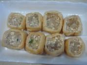豆腐雕鱼彩蔬盅的做法步骤:4