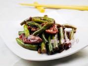 酱焖肉片扁豆的做法步骤:9
