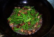 酱焖肉片扁豆的做法步骤:8