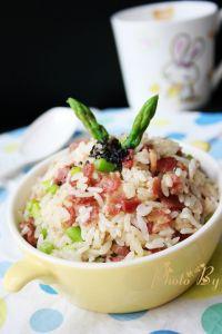芦笋培根炒饭的做法步骤:15