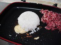 芦笋培根炒饭的做法步骤:9