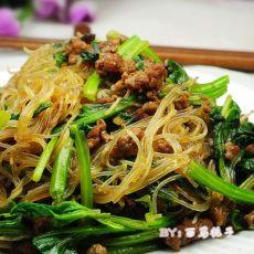 肉末粉丝菠菜的做法